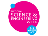Internal link to National Science and Engineering Week Press Release